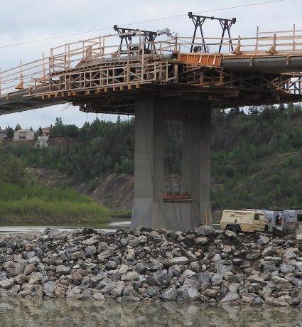 Two Edmonton bridges now spanned in concrete