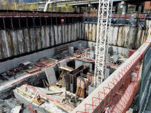 Stud rails relieve pressure on concrete foundation walls
