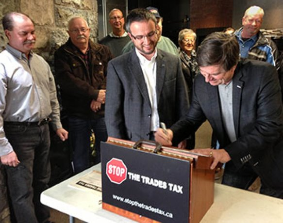 Political pledges for Stop The Trades Tax