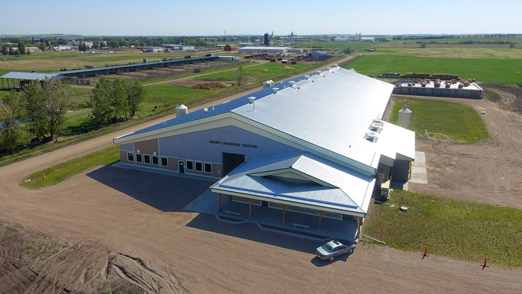 Precast concrete barn has all the bells and whistles for 280 Alberta dairy cattle