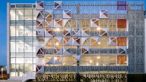 Place Ste-Foy parking garages inspired by nature and history of site