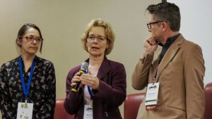 Helle Brodie, a landscape architect and president of Brodie & Associates (centre), was a speaker on a panel examining what it takes to produce healthy engineered soils for green infrastructure at the Grey to Green Conference in Toronto recently.