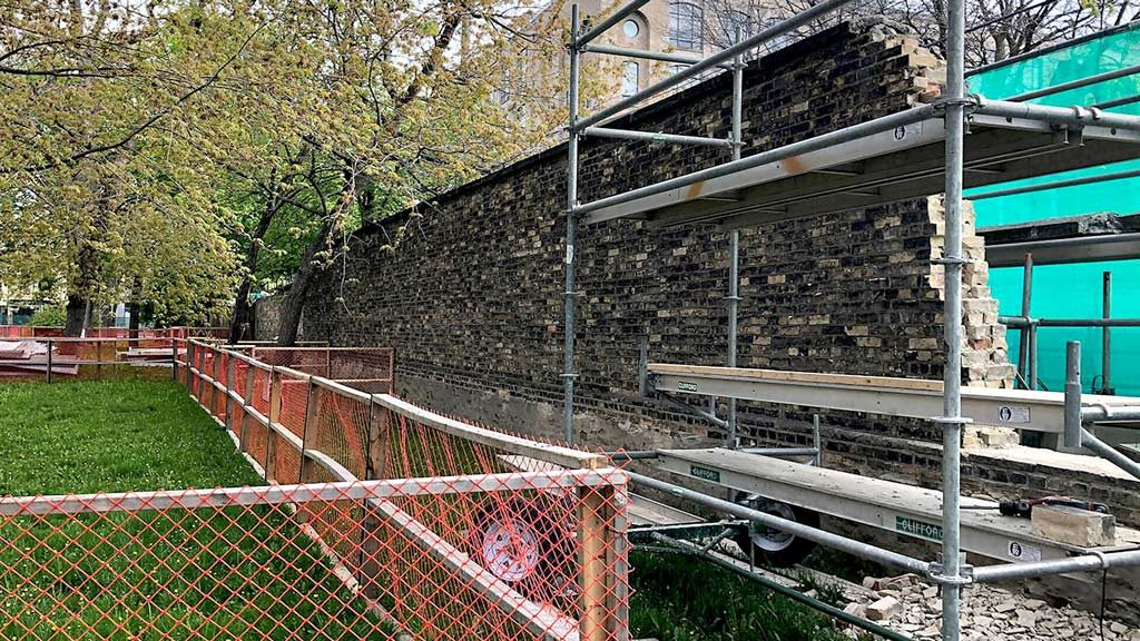 Restoration of CAMH walls preserves important chapter of patient history