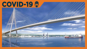 Gordie Howe bridge officials say second wave of COVID-19 won't delay project