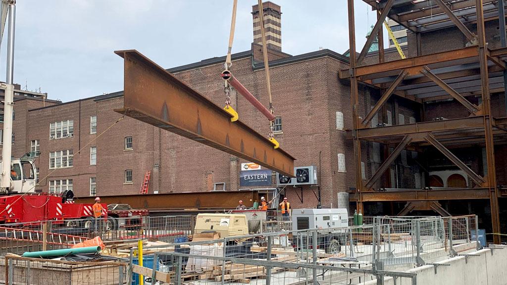 Revival formula for university prep school in Toronto includes steel