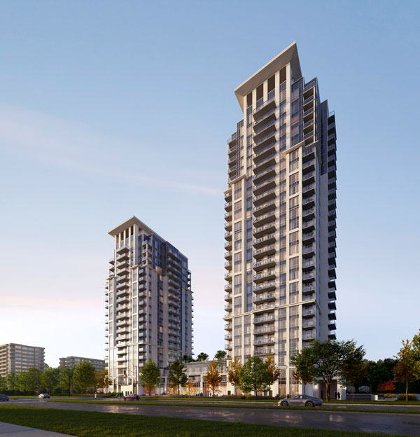 Kaneff's Keystone Condos in Mississauga City Centre will have two towers, of 20 and 23 storeys.