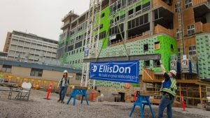 Crews celebrate Kamloops care tower reaching concrete milestone
