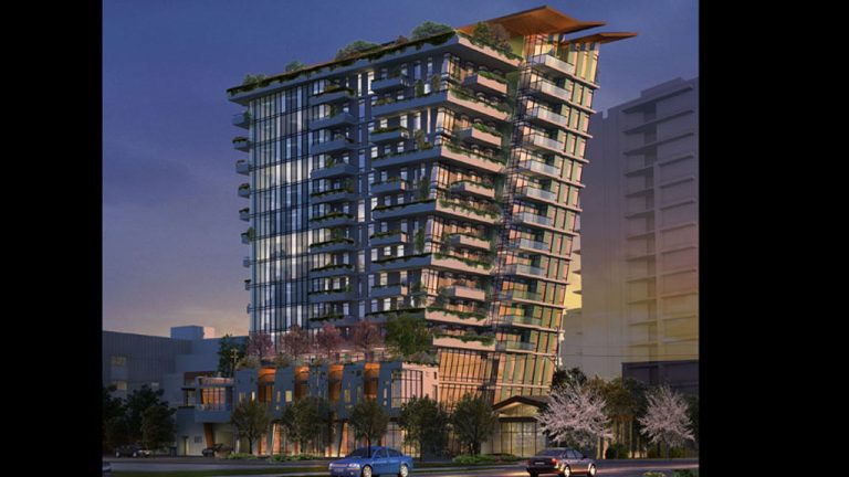 Crews have begun work on The Wedge, a new mixed-use tower in Victoria, B.C.