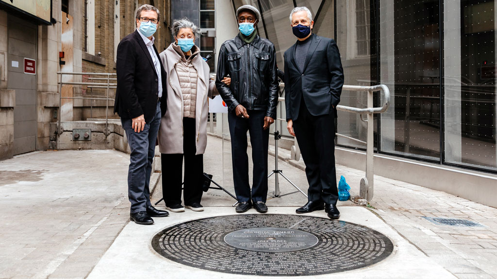 MOD unveils record-shaped disc at Massey Tower, paying homage to Colonial Tavern