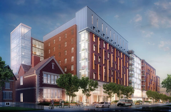 Located on George Street, the project will result in a long-term care home, a transitional living facility, an emergency shelter, affordable housing and a community hub. Seaton House is expected to be fully decommissioned by July 2022.The project will include about 622,000 square feet of new construction and restored heritage buildings.