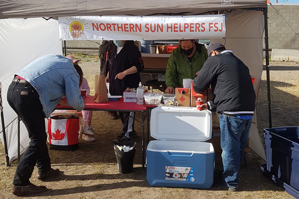 Northern Sun Helpers Society distributes meals to struggling individuals and families in Fort St. John, B.C. The society received a donation recently from the Site C Dam project's Generate Opportunities Fund.
