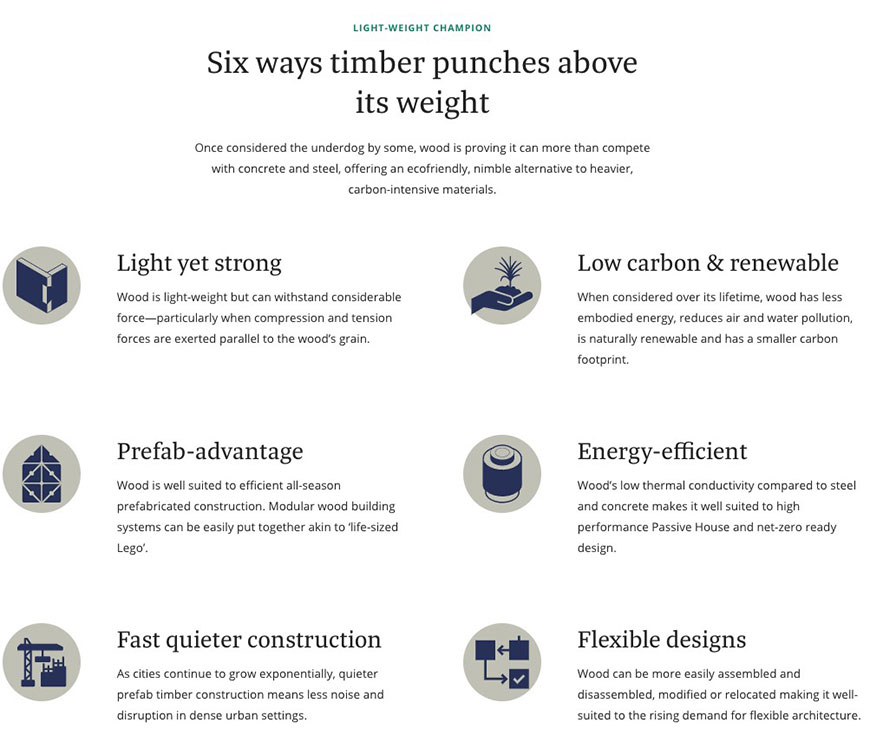 Six ways timber punches above its weight.