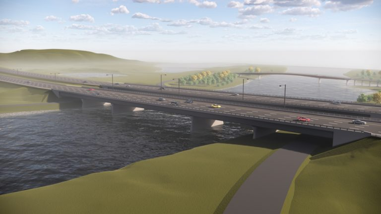 A rendering shows plans to replace Calgary's Bow River Bridge.