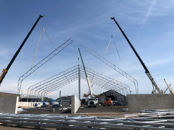 HOPA completed a 40,000-square-foot fabric structure for Federal Marine Terminals last year at Pier 12 along with other supporting infrastructure.