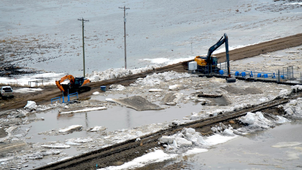 A decade in the making: $47-million Alberta spillway project taking shape