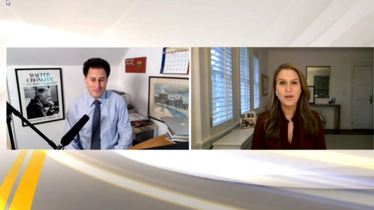Steve Paikin, host of TVO's The Agenda with Steve Paikin, asked Ontario's Transportation Minister Caroline Mulroney poignant questions about the status of infrastructure projects in the province during the Ontario Road Builders' Association virtual summit Feb. 3.
