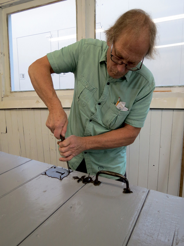The Conseil des Metiers d'Art (Quebec Council of Crafts) has commenced a 15-week training program for tradespeople on best practices in conservation and restoration of Quebec's built heritage. Pictured is cabinetmaker Alain Lachance.