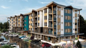 76-unit rental project under construction in Squamish