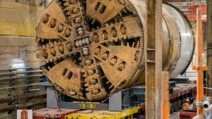 Mammoet transports tunnel boring machines for tunnel project in Melbourne