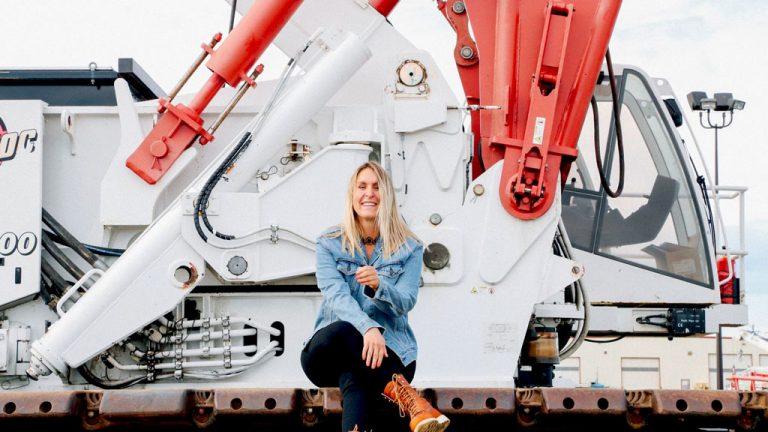 Ashleigh Kaliszuk, a Red Seal certified mobile crane operator, spoke recently at a Skills Ontario International Women's Day webinar.