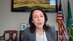 Cantwell urges trade-enabling infrastructure in Brookings speech