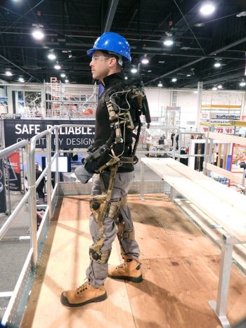 The Atwill-Morin Group has acquired several mechanical exoskeletons that are being used by workers who must repeatedly lift heavy loads. The company is the first one in Quebec to own that type of personal armature.