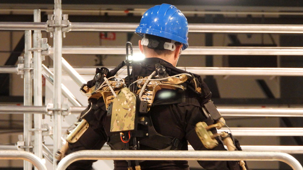 Exoskeletons not just for cinematic superheroes, they're ideal for masons