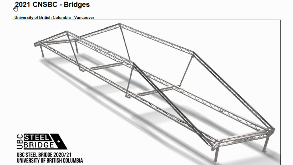 UBC team ranks first overall in Canadian National Steel Bridge Competition
