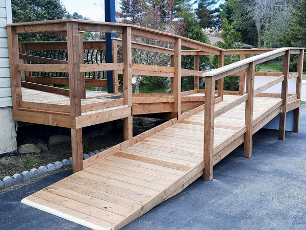 Pictured is the 40-foot-long ramp.