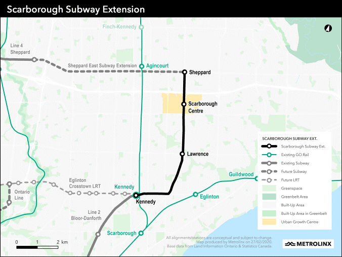 Tunnel contract awarded for Scarborough subway extension
