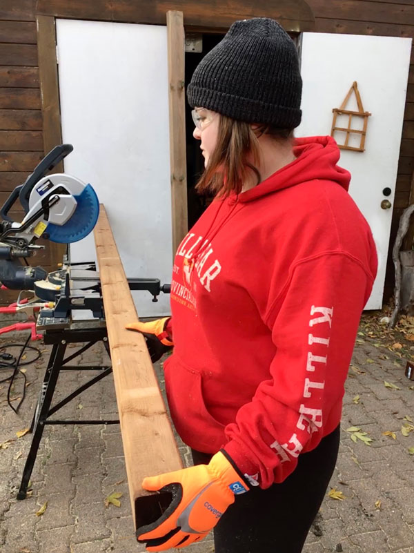 Kate Keaney is no stranger to construction. She has worked as a labourer and has built residential decks and framed buildings.