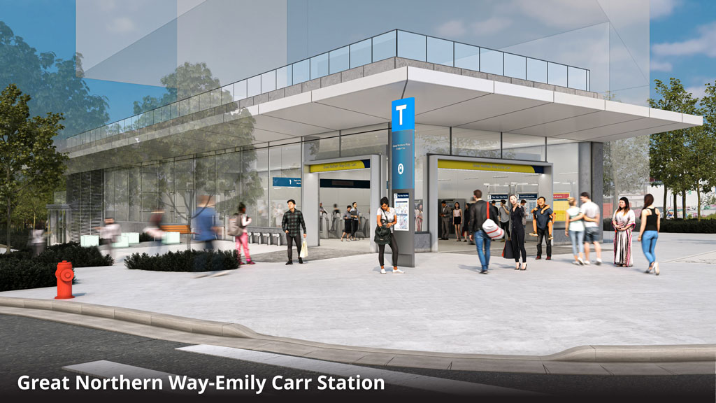New station designs unveiled for Vancouver subway line