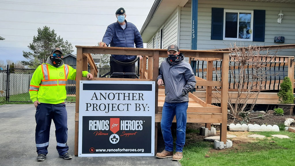 'I thank those guys from the bottom of my heart' – Veteran thanks Carpenters', R4H for new ramp