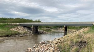 Bridge repaired following fiery crash in Pouce Coupe