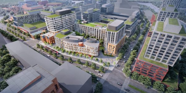 The new Indigenous Hub will be built on a 2.4-acre site on Cherry Street in east Toronto.