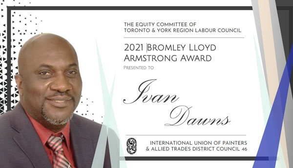 Ivan Dawns of the International Union of Painters and Allied Trades (IUPAT)- District Council 46.