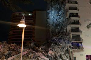 Wing of Miami area condo collapses; at least one person dead