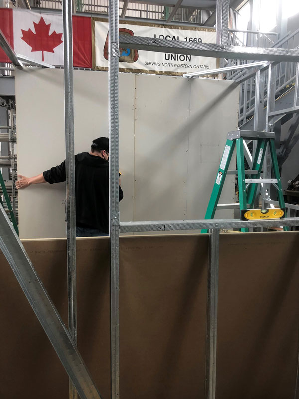 The Anishinabek Employment and Training Services is providing a pre-apprenticeship program for drywall/acoustics/lathing applicator that is 22 to 28 weeks long in total.