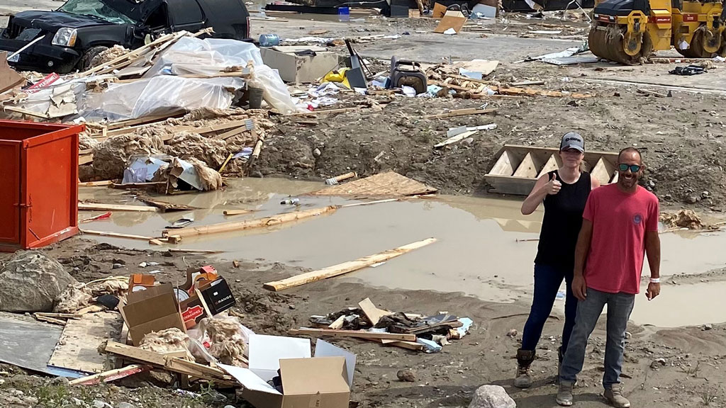 Workers thrown by tornado home safe and sound