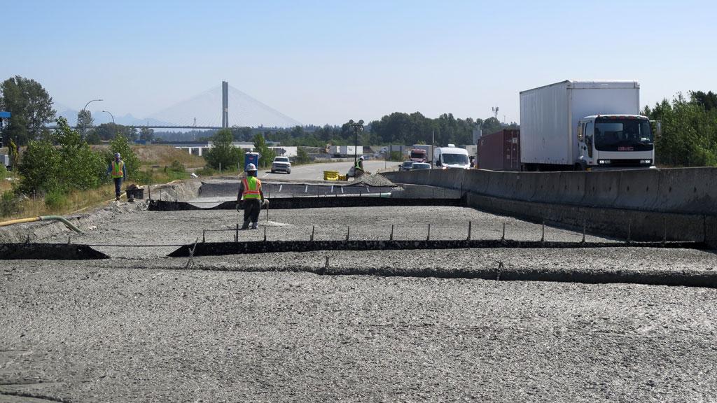 Settling highway gets repairs in Delta