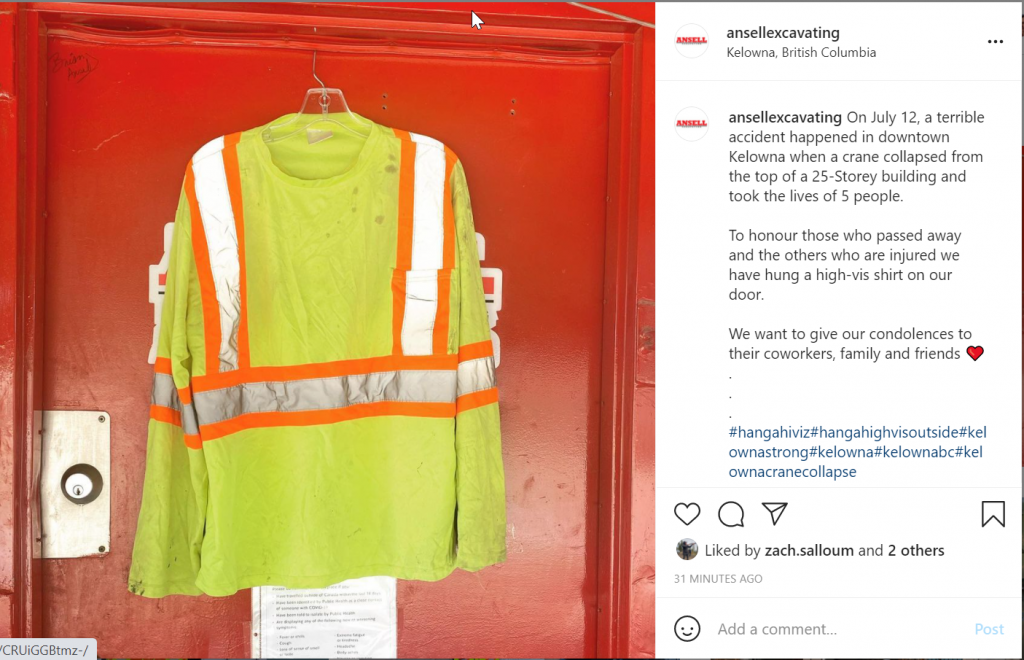 High-vis vest photos shared in memory of victims