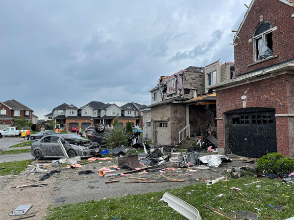 Barrie Fire Chief Cory Mainprize said roughly 20 homes are considered uninhabitable, with two or three completely destroyed.