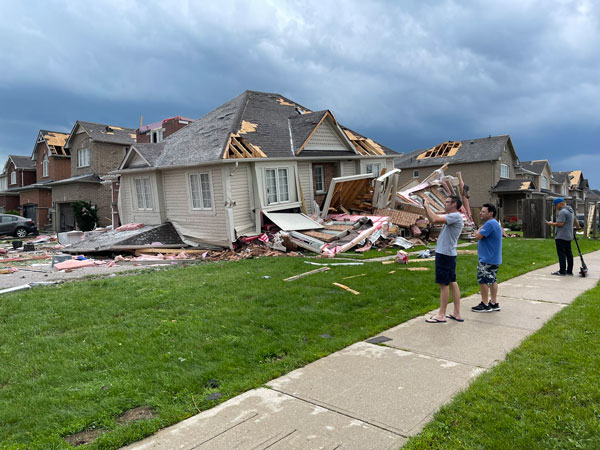 Mayor Jeff Lehman noted the destruction a familiar scene to many long-time Barrie residents. A tornado killed eight people and injured more than a hundred others in the city in 1985.