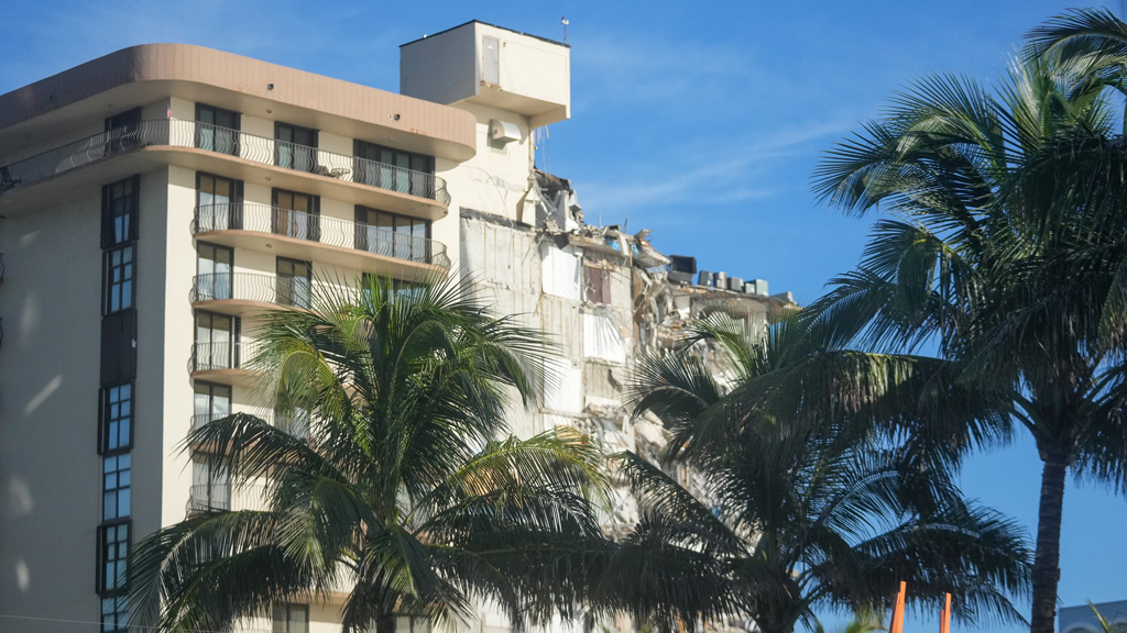 Explosives set off to bring down rest of collapsed condo in Surfside