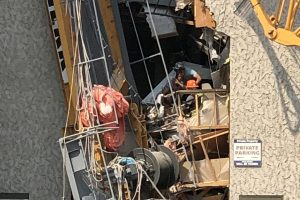 UPDATE: Construction crane collapses in downtown Kelowna