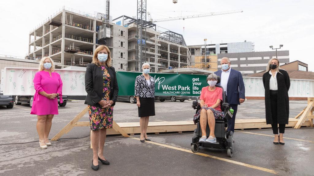 West Park Healthcare Centre project reaches construction milestone