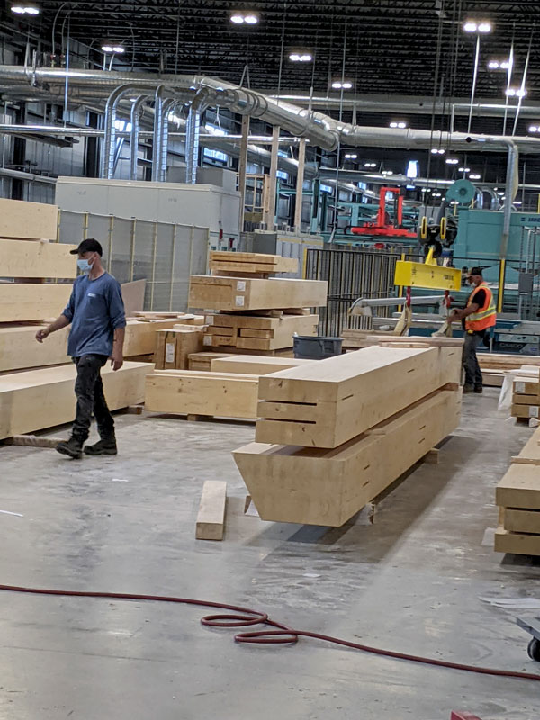 Design of the production line for Element5's new mass-timber plant in St. Thomas, Ont. was undertaken by Slovenia's Ledinek.