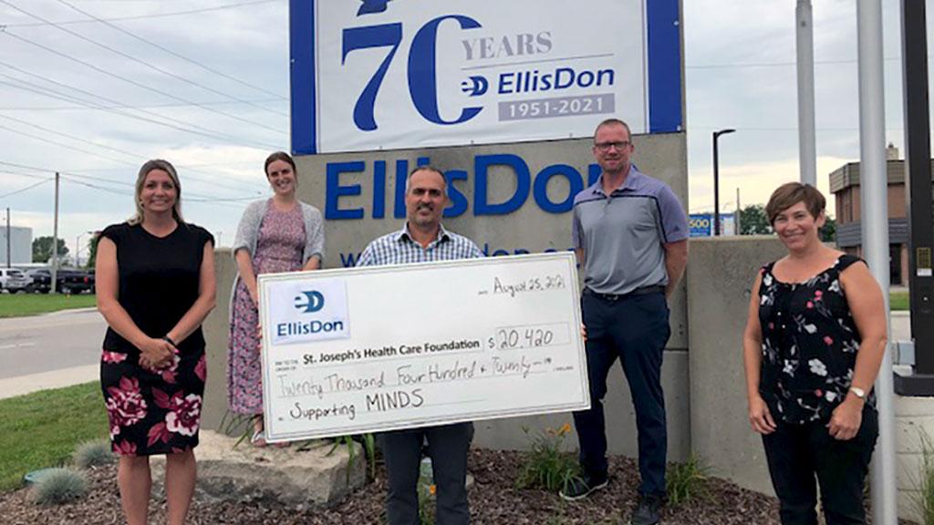 EllisDon raises over $20,000 for St. Joseph's Healthcare Foundation
