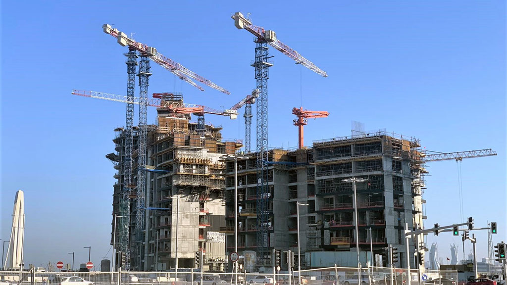 Nine tower cranes currently operating to help construct Qatar megaproject