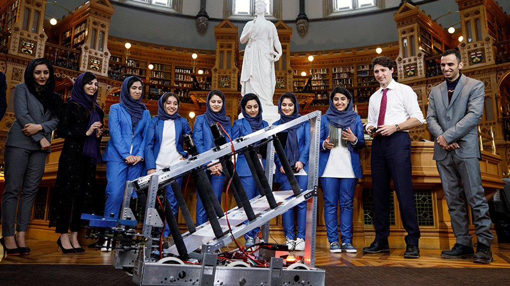 Queen's profs invite Afghan Girls Robotics Team to settle in Kingston